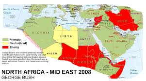 Map Of Eastern Africa by Map Of The Results Of Obama U0027s Foreign Policy In North Africa