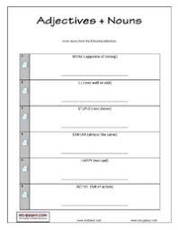 english grammar printable adjective exercises