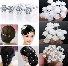 flower hair pins wedding bridal pearl hair pins flower hair