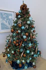Blue And Gold Home Decor Amusing Blue And Gold Christmas Tree 28 In Home Designing