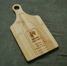 cutting board engraved laser engraved personalized bamboo paddle cutting board