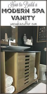 Modern Vanities For Bathroom by How I Built My Modern Spa Vanity Uncookie Cutter