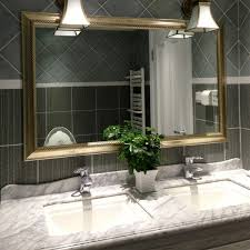 gorgeous western mirrors for the bathroom below downlight sconce