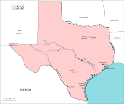 Map Of The State Of Texas Texas State Map Map Of Texas And Information About The State