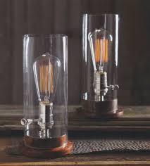 classic glass edison period tungsten filament table l nova68