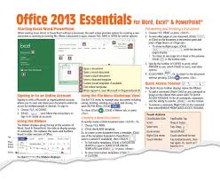office 2013 cheat sheet quick reference guide card beezix
