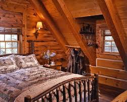 Log Home Bedrooms Cozy Log Cabin With Charming Interior