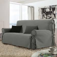 housse canapé gris housse de canapé et clic clac déco textile eminza