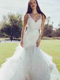lauren elaine capella sparkling crystal beaded mermaid wedding dress