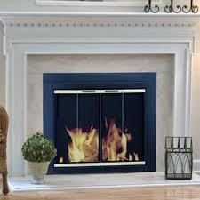glass door for fireplace fleshroxon decoration