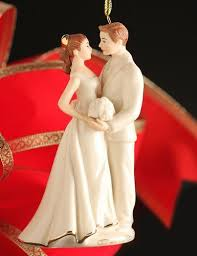 lenox china ornaments 2013 always and forever bride and groom