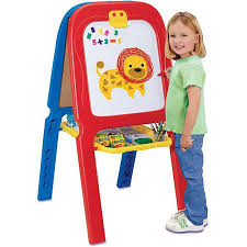 magnetic easel for toddlers crayola 3 in 1 double easel with magnetic letters walmart com