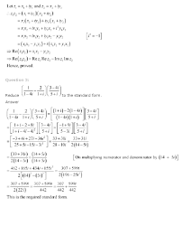 ncert solutions for class 11th maths chapter 5 u2013 complex numbers