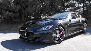 matte black maserati convertible 2016 maserati granturismo mc review youtube