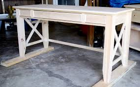 Build Basic Wooden Desk by Diy Writing Desk