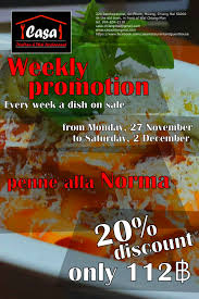 cuisine promotion authentic cuisine casa the restaurant and pizzeria