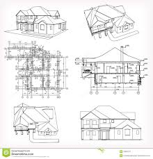 home design blueprint of house set houses and vector stock photo