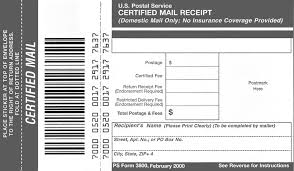 Post Office Resume Sample by Domestic Mail Manual S912 Certified Mail