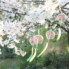 10pcs handmade painting japanese wind chimes furin for festival