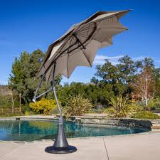 Patio Umbrella Replacement by Outdoor U0026 Garden Modern Cantilever Patio Umbrella Picture On Pool