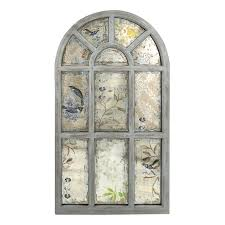 shop imax worldwide laverne antique gray framed arch wall mirror