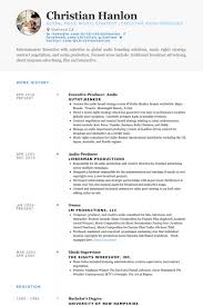 Education For Resume Examples by Executive Producer Resume Samples Visualcv Resume Samples Database