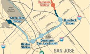Bart Berryessa Extension Map by Save Our Transit U2013 Page 2 U2013 Help Save Funding For Mass Transit