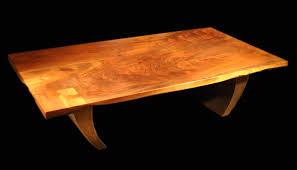 Walnut Slab Table Folded Edge And Book Matched Live Edge Claro Walnut Slab Coffee