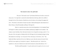 the scarlet letter sin and guilt a level english marked by