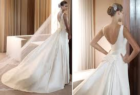structured wedding dress white simple structured wedding dress by pronovias with low scoop back