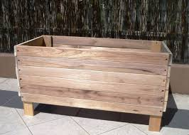 Planter Bench Seat Planters Wood Flower Basket Planter Hanging Box On Wheels Stand