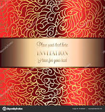 Wallpaper Invitation Card Abstract Background With Luxury Metal Gold Place For Text Vintage