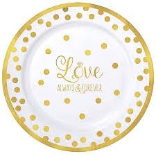 amscan wedding premium plastic dinner plate reviews wayfair
