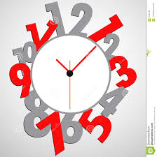 Clock Design Creative Clock Design With Stickers For Your Text Stock Images