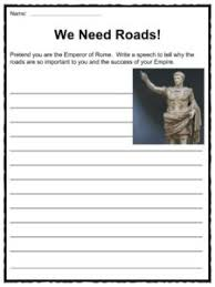 roman roads facts worksheets u0026 history for kids