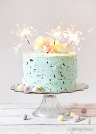 speckle cake white chocolate mint layer cake easter
