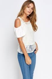 cold shoulder tops lace cold shoulder top just 5
