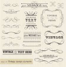 vector vintage set calligraphic design elements and page