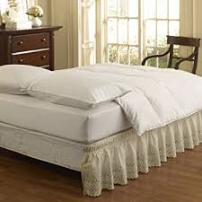 amazon com easy fit 11577queen kingiv wrap around solid ruffled