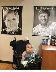 Bill Gates Steve Jobs Meme - steve jobs found of apple bill gates apple meme on sizzle