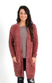 chenille sweater miracle clothing chenille cardigan sweater for in rust