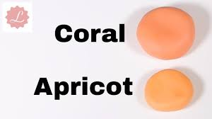 how to make coral and apricot colored fondant sugarpaste youtube