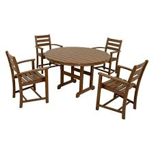 8 Piece Patio Dining Set - trex outdoor furniture monterey bay classic white 5 piece patio