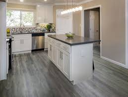 white kitchen cabinets with vinyl plank flooring gray vinyl plank flooring kitchen my friends gorgeous gray