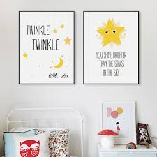 Kawaii Room Decor by Kawaii Minimalist Twinkle Stars Typography Quotes Art Print Poster