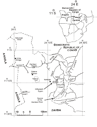 Zambia Map Map Of The Ikelenge Pedicle Northern Mwinilunga District Nw