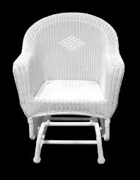 Glider Patio Furniture 36 White Resin Wicker Single Glider Patio Chair Christmascentral