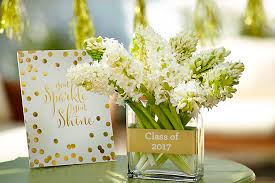 easy graduation centerpieces golden themed graduation decor ideas earlesloveland