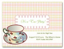 printable high tea party invitation template