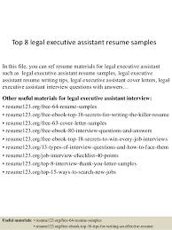 top 8 legal executive assistant resume samples 1 638 jpg cb u003d1431791536